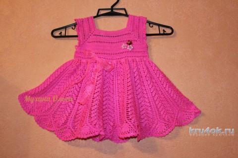 Сарафан для девочки. Работа Мухиной Ольги вязание и схемы вязания