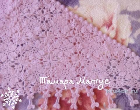 Шаль крючком Яблоневый цвет. Работа Тамары Матус вязание и схемы вязания