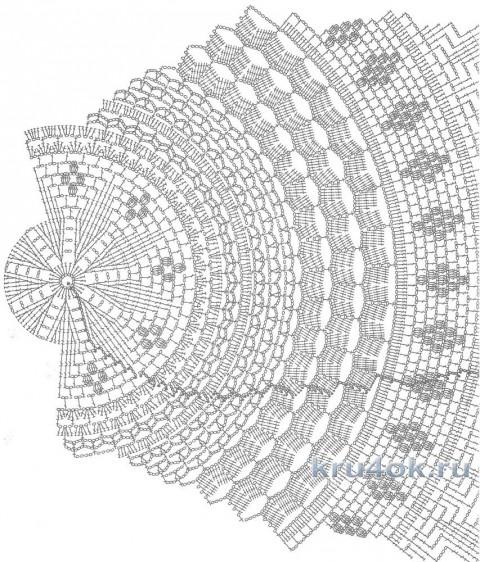 Скатерть крючком. Работа Светланы вязание и схемы вязания