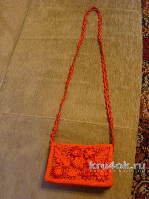Сумка крючком. Работа Светланы Кульбашной вязание и схемы вязания
