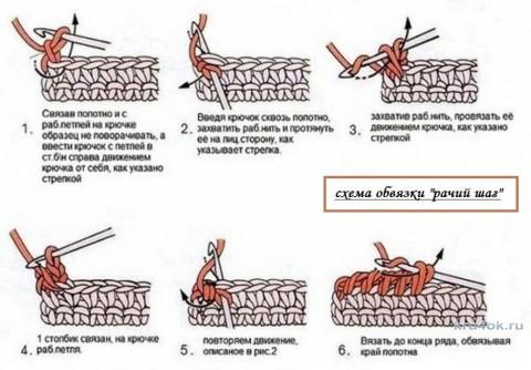 Воротничок крючком. Работа Елены Шляковой вязание и схемы вязания