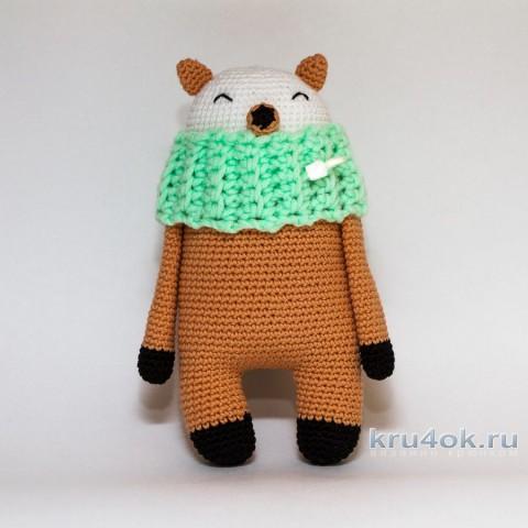 Вязаная крючком игрушка Лиска. Работа Александры Янковской вязание и схемы вязания