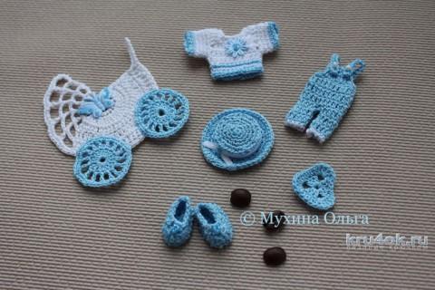 Вязаные миниатюры для скрапбугинга. Работа Мухиной Ольги вязание и схемы вязания