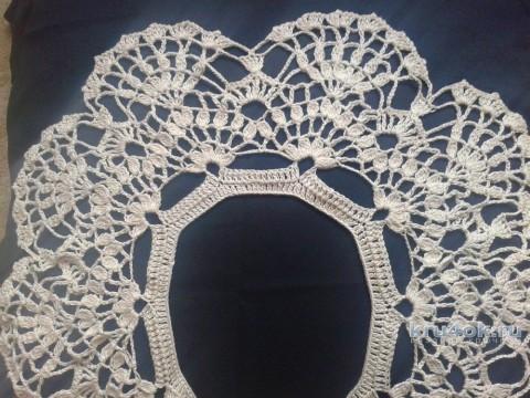 Вязаный воротничок. Работа Галины Коржуновой вязание и схемы вязания