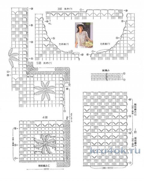 Женский жилет в филейной технике. Работа Елены  Шевчук вязание и схемы вязания