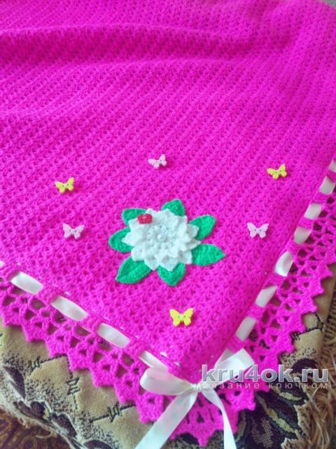 Детский плед крючком. Работа Громовой Галины вязание и схемы вязания