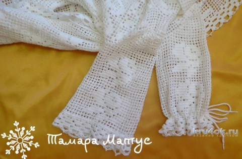 Комплект для крещения. Работа Тамары Матус вязание и схемы вязания