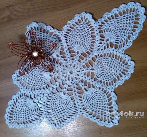 Салфетка с ананасами. Работа Людмилы Кузьминской вязание и схемы вязания
