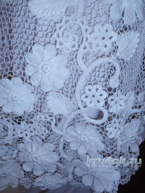 Свадебное платье в стиле ирландского кружева. Работа Светланы вязание и схемы вязания