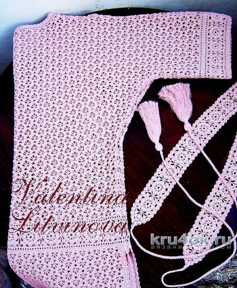 Туника крючком. Авторская работа Валентины Литвиновой вязание и схемы вязания
