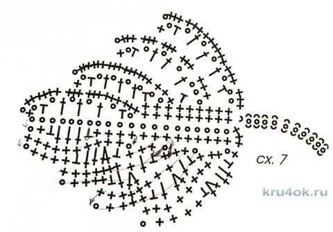 Воротничок в стиле ирландского кружева. Работа Ludmila Maksjutova вязание и схемы вязания