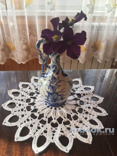 Вязаная салфетка. Работа Надежды Борисовой вязание и схемы вязания