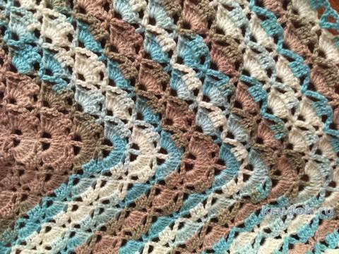 Вязаный бактус с бусинами. Работа Татианы вязание и схемы вязания