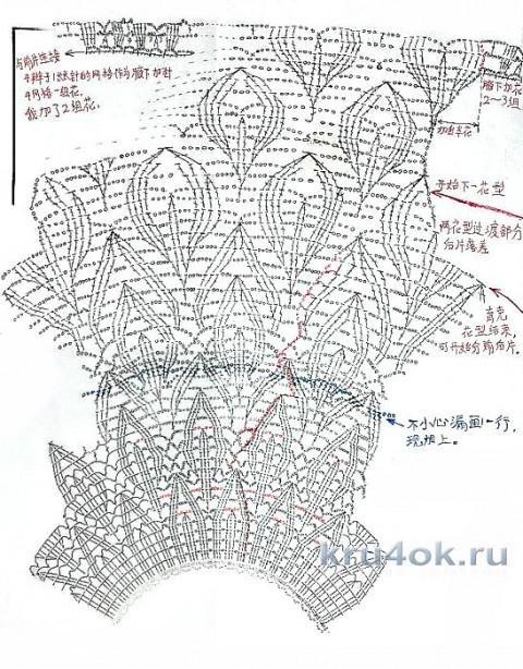 Женская кофточка крючком. Работа Татьяны Ивановны вязание и схемы вязания
