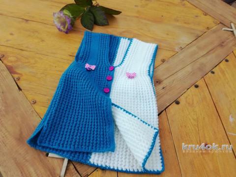 Детский сарафан крючком. Работа Елены Аферовой вязание и схемы вязания