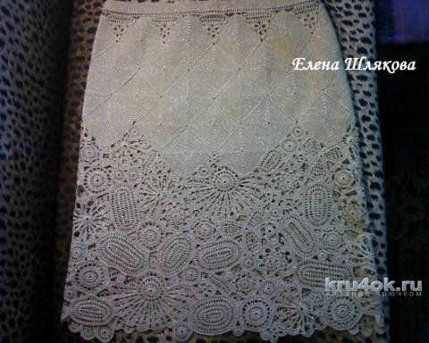 Костюм Флора крючком. Работа Елены Шляковой вязание и схемы вязания