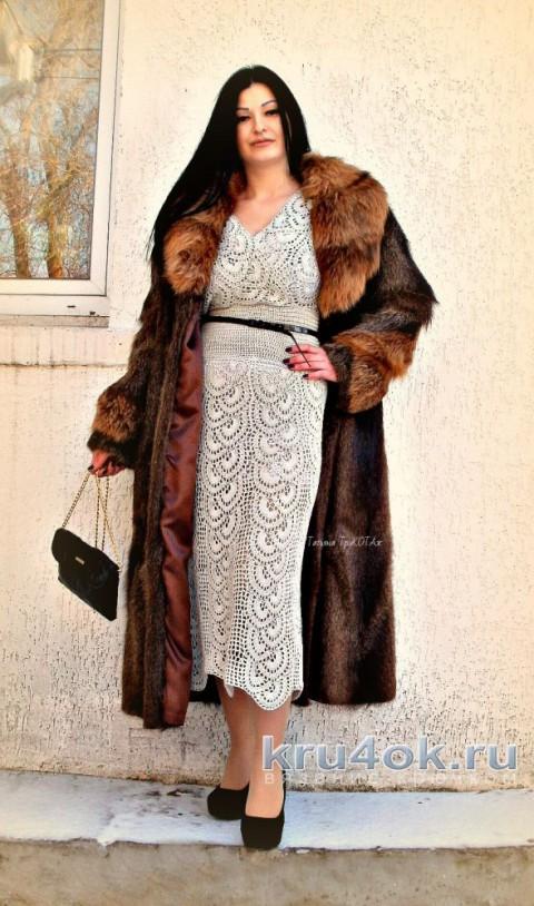Платье крючком. Работа Татьяны КолесниченкоТарчевскойТриКОТАж