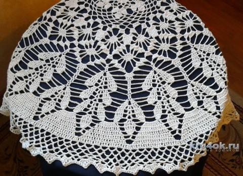 Скатерть крючком. Работа Галины Коржуновой вязание и схемы вязания