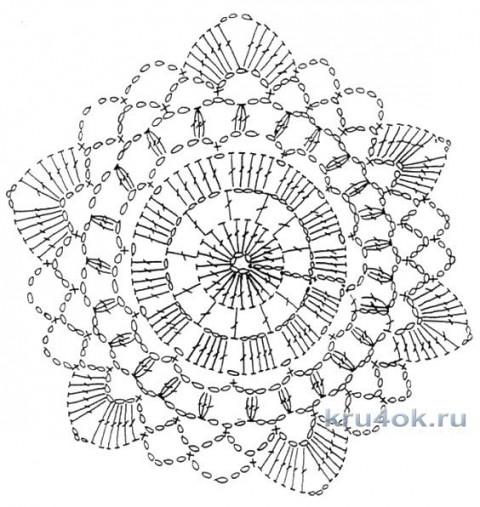 Вязаный топ в стиле бохо. Работа Мухиной Ольги вязание и схемы вязания
