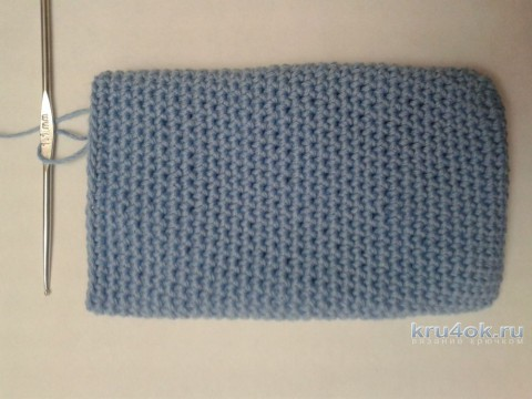 Чехол для телефона крючком. Мастер - класс от Фланденой Татьяны вязание и схемы вязания
