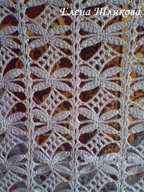 Кофточка крючком Стрекоза. Работа Елены Шляковой вязание и схемы вязания