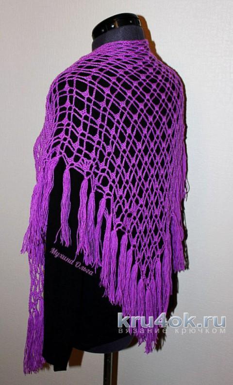 Косынка на шею крючком. Работа Мухиной Ольги вязание и схемы вязания
