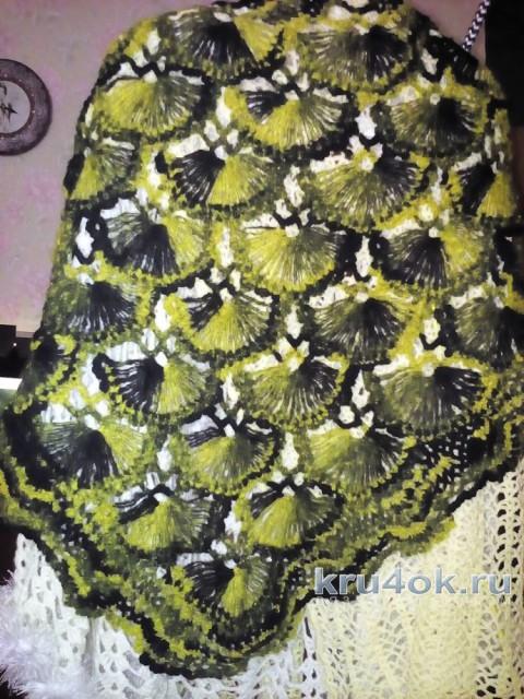 Турецкая шаль, связанная на карточке. Работа Раушании Уметбаевой вязание и схемы вязания