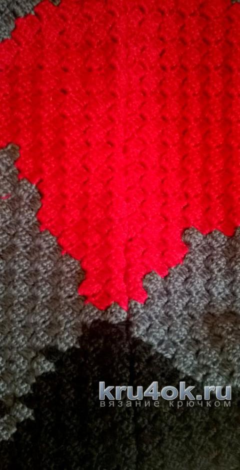 Жакет крючком в стиле пэчворк. Работа Елены Шевчук вязание и схемы вязания
