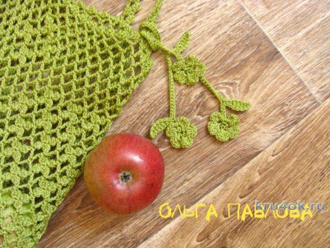 Авоська крючком Весенняя. Работа Ольги Павловой вязание и схемы вязания