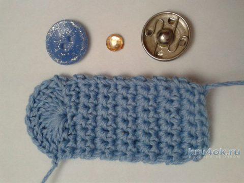Чехол для смартфона на кнопке. Работа Фланденой Татьяны вязание и схемы вязания