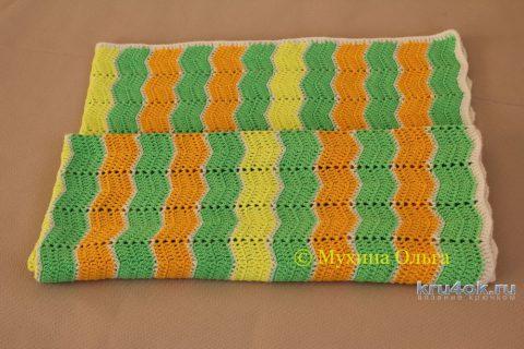 Детский плед Радужный. Работа Мухиной Ольги вязание и схемы вязания