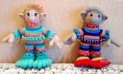 Игрушка домовёнок крючком. Работа Елены Аистовой вязание и схемы вязания