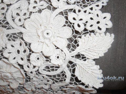 Кофточка Пломбир в технике ирландского кружева вязание и схемы вязания