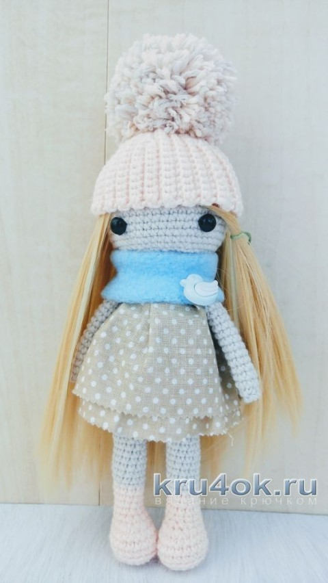 Кукла Марина крючком. Работа Александры Янковской вязание и схемы вязания