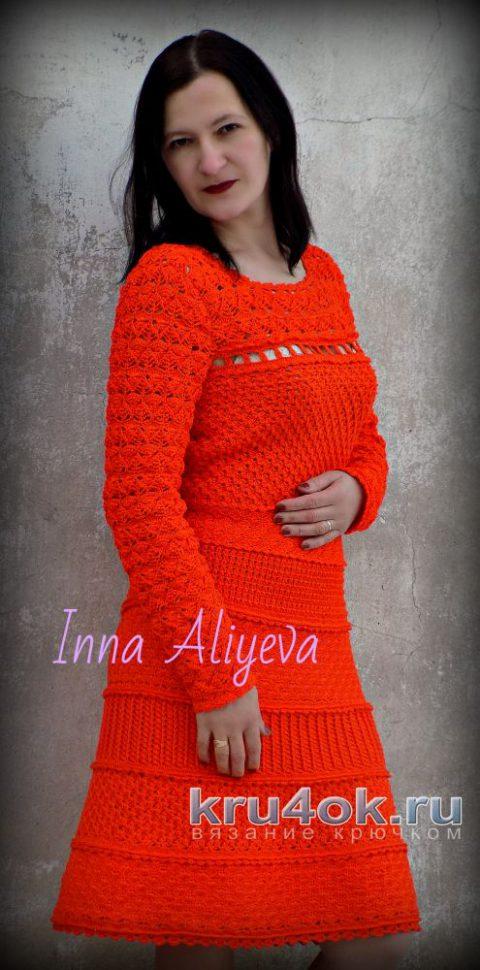Платье крючком TENERIFE от Vanessa Montoro. Работа Inna Aliyeva вязание и схемы вязания