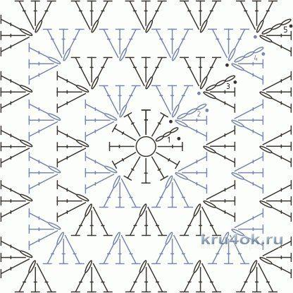 Тапочки крючком из мотива бабушкин квадрат