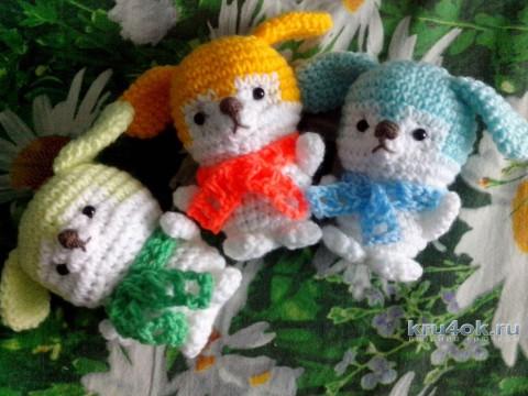 Собачки амигуруми крючком. Работа Катерины Петяниной вязание и схемы вязания