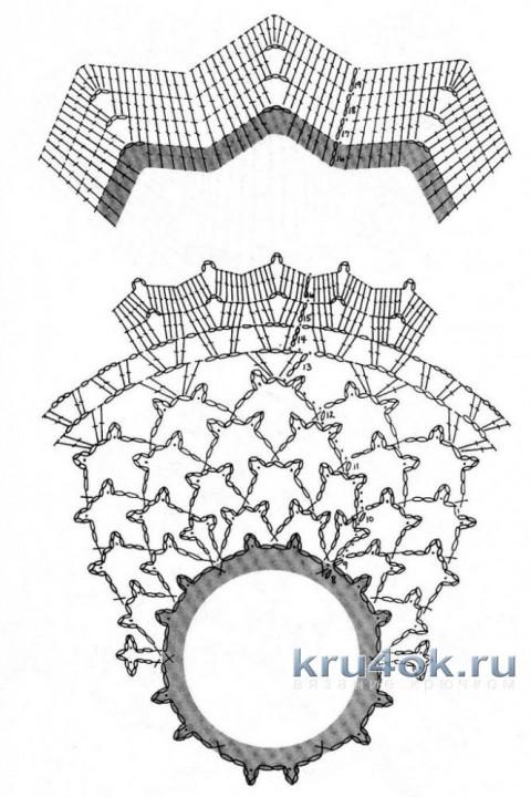 Воздушная салфетка крючком. Работа Елены Лукьяновой вязание и схемы вязания