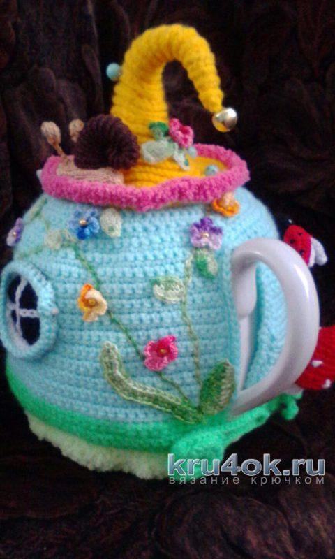 Вязаная грелка на чайник. Работа Екатерины вязание и схемы вязания