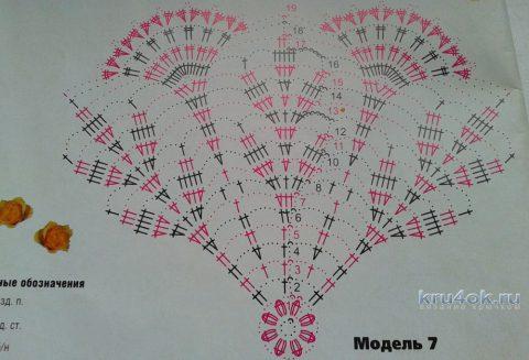 Вязаные крючком ажурные салфетки. Работы Галины Коржуновой вязание и схемы вязания