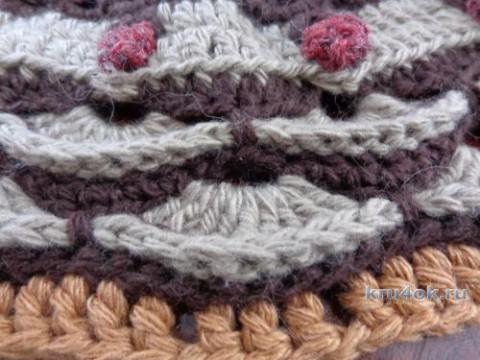 Вязаный крючком ковер. Работа Надежды Лавровой вязание и схемы вязания