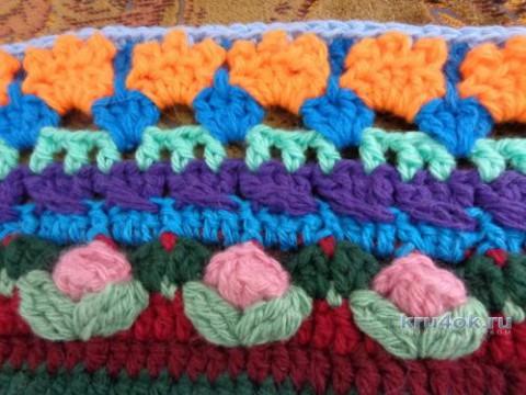 Вязаный крючком плед. Работа Надежды Лавровой вязание и схемы вязания