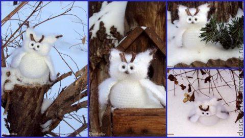 Белая сова крючком