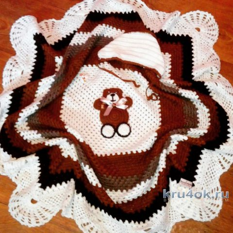 Детский плед крючком. Работа Марии Дайнеко вязание и схемы вязания