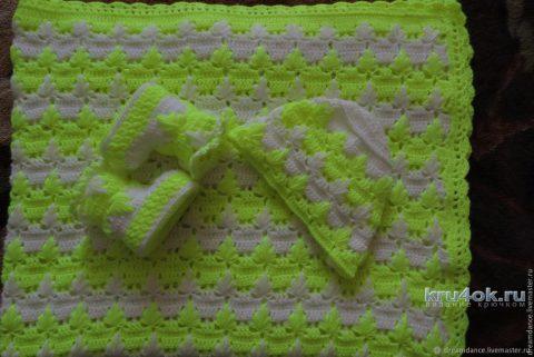 Детский плед крючком. Работа Марины вязание и схемы вязания