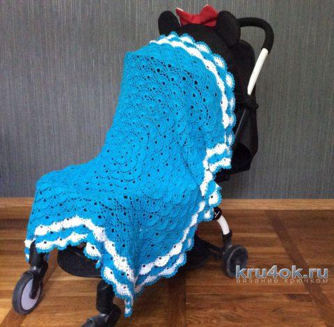 Детский плед крючком. Работа Татьяны вязание и схемы вязания