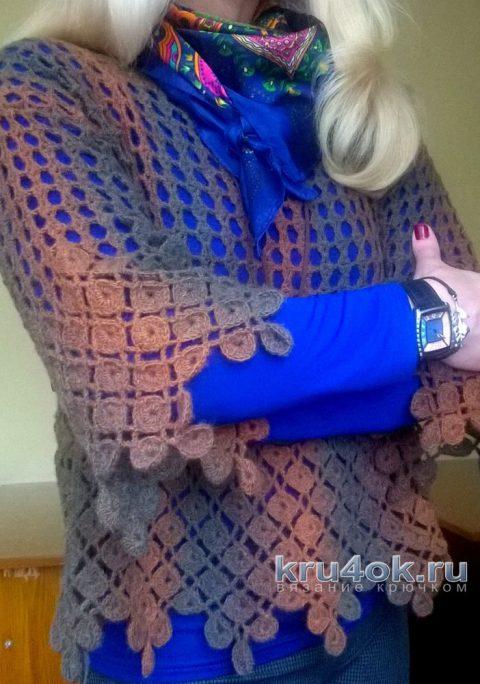 Джемпер крючком Монетки. Работа Елены Шевчук вязание и схемы вязания