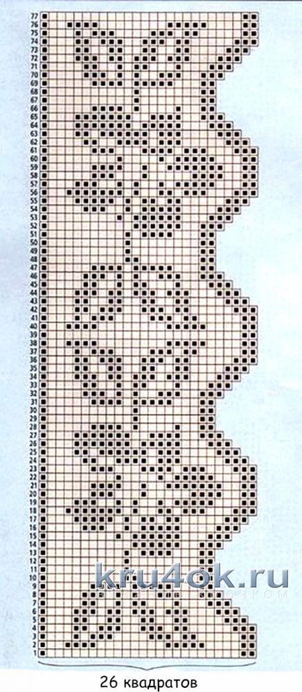 Филейная сетка для полотенец. Работа Елены вязание и схемы вязания