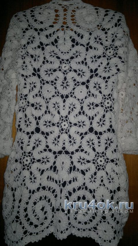 Кардиган, брюггское кружево. Работа Кукарцевой Марины вязание и схемы вязания