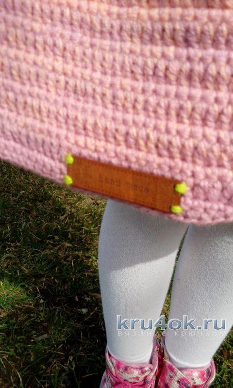 Пальто для девочки крючком. Работа Марии Дайнеко вязание и схемы вязания